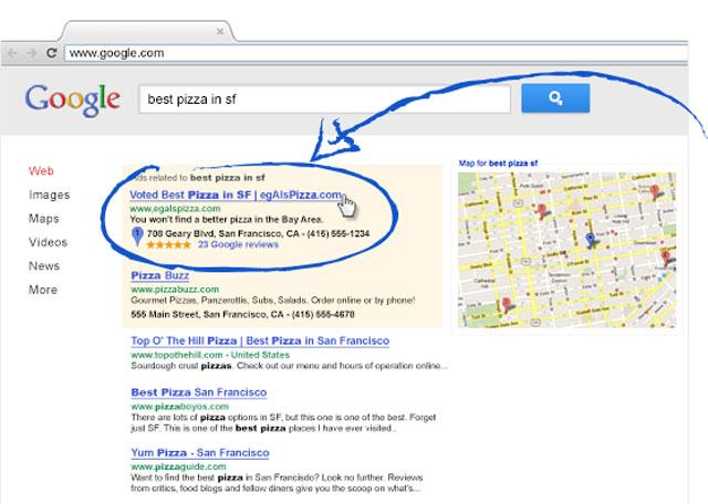 Mẫu quảng cáo văn bản trong Google AdWords