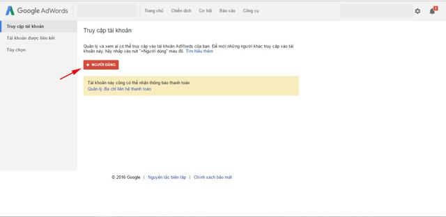 Cài đặt báo cáo trong Google AdWords