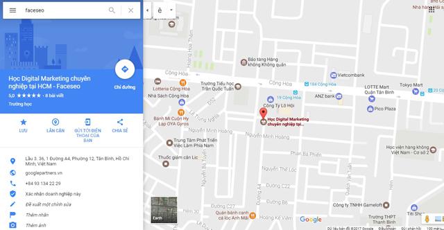 Hiển thị doanh nghiệp của bạn trên công cụ Google Maps