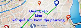 Quảng cáo đi kèm kết quả tìm kiếm địa phương